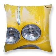 Classic Antique Chevy Corvette - Detail Throw Pillow