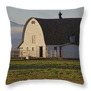 Classic Barn Near Grants Pass Throw Pillow