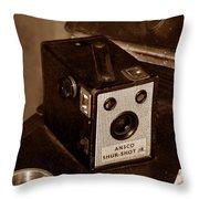 Classic Camera Throw Pillow