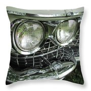 Classic Car - White Grill 1 Throw Pillow
