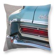 Classic Car Aqua Holiday Throw Pillow