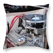 Classic Car Engine Throw Pillow