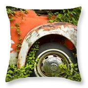 Classic Car Forgotten Throw Pillow