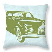 Classic Car Throw Pillow by Naxart Studio