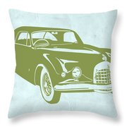 Classic Car Throw Pillow by Naxart Studio