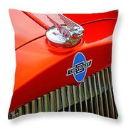 Classic Chevrolet Hood And Grill Throw Pillow