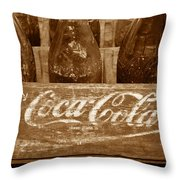 Classic Coke Work B Throw Pillow