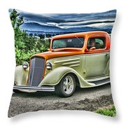 Classic Ford Hdr Throw Pillow