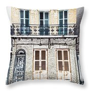 Classic French Quarter Residence New Orleans Colored Pencil Digital Art Throw Pillow