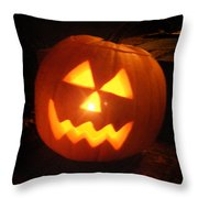 Classic Jack O Lantern Throw Pillow