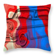 Classic Mercury Abstract Throw Pillow