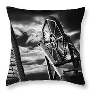 Classic Old Windmill Throw Pillow