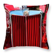 Classic Red Mg Throw Pillow