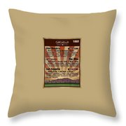 Classic Rock 1969 Throw Pillow