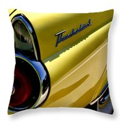 Classic T-bird Tailfin Throw Pillow