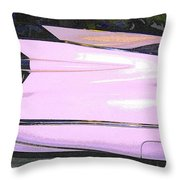 Classic Tails - Pink 1959 Cadillac Throw Pillow