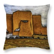 Classic View Aquarell Throw Pillow