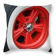Classic White Wall Tire And Mag Throw Pillow