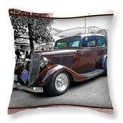 Classy Brown Ford Throw Pillow