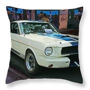 Classy Mustang Throw Pillow