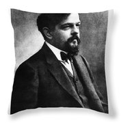 Claude Debussy, French Composer Throw Pillow by Photo Researchers