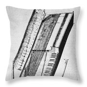 Clavichord, 1636 Throw Pillow