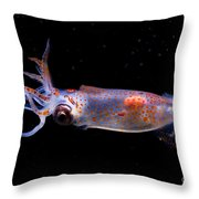 Clawed Armhook Squid Throw Pillow