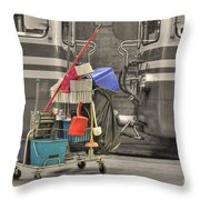 Cleaning Equipment Throw Pillow