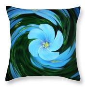 Clear Blue  Throw Pillow