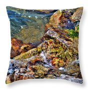 Clear Contact Throw Pillow