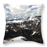 Clear Day On Rendezvous Mountain Throw Pillow