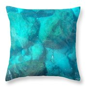Clear Water 3 Ionian Sea Series Throw Pillow