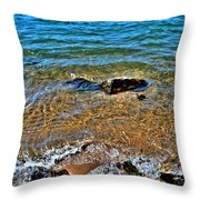 Clear Waves  Throw Pillow