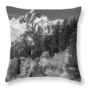 Clearing Storm On Grand Teton  Throw Pillow