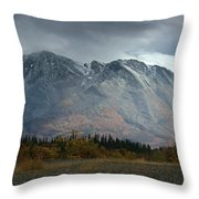 Clearing Storm Over North Canol Road Throw Pillow