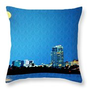 Clearwater At Night Throw Pillow