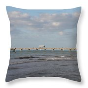 Clearwater Pier 69 Throw Pillow