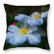 Clematis Altered Throw Pillow