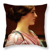 Cleonice Throw Pillow by John William Godward