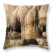 Cleopatra Terrace, Mammoth Hot Springs Throw Pillow