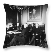 Cleveland Cabinet, 1889 Throw Pillow