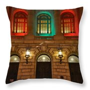 Cleveland Courthouse Throw Pillow