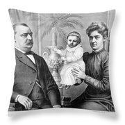 Cleveland Family, C1893 Throw Pillow