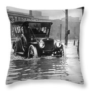 Cleveland: Flood, C1913 Throw Pillow