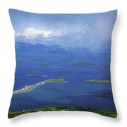 Clew Bay, Co Mayo, Ireland View Of A Throw Pillow