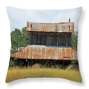 Clewis Family Tobacco Barn II Throw Pillow