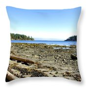 Cliff And Beach Throw Pillow