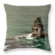 Cliff Of Moher 17 Throw Pillow