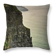 Cliff Of Moher 20 Throw Pillow
