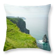 Cliff Of Moher 24 Throw Pillow